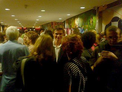 Casper glim van trots onder de bewonderaars van de film