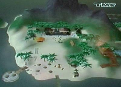 Het virtuele eiland in Second Life waar Di-rect optrad